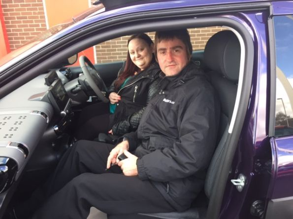 Maria collecting her 3rd Car from Dave at Citroen Bolton - Happy motoring!