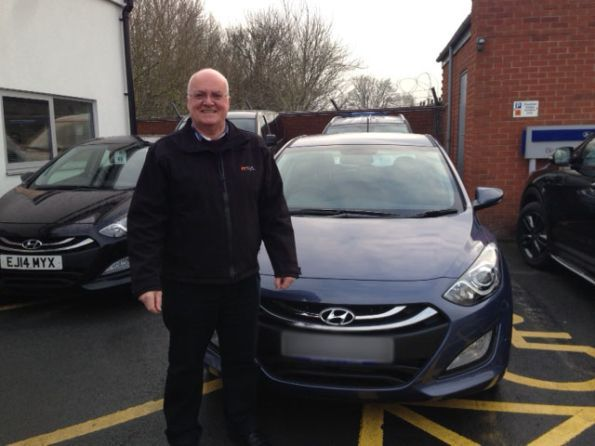 Mr Ashmore picking up his new i30 from Hyundai Bolton - Happy motoring!