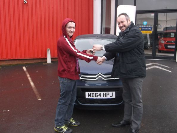 Mr Hamer with his brand new car from Lee Anslow at Citroen Bury!