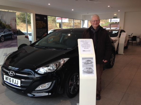 Mr Houghton collecting his new Hyundai i30 - His 5th vehicle from BCC Hyundai