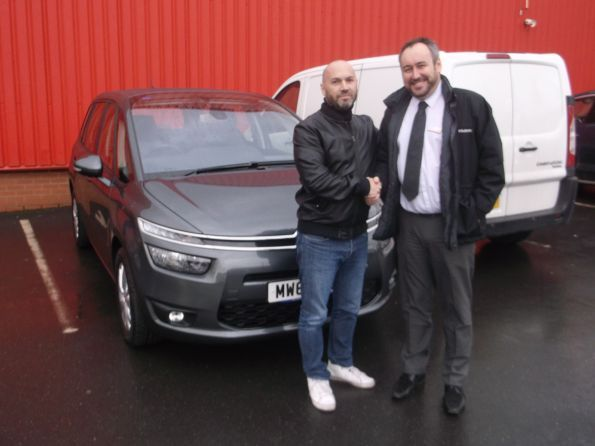 Mr Steele collecting his new car from Lee Anslow at Citroen Bury - Happy motoring!