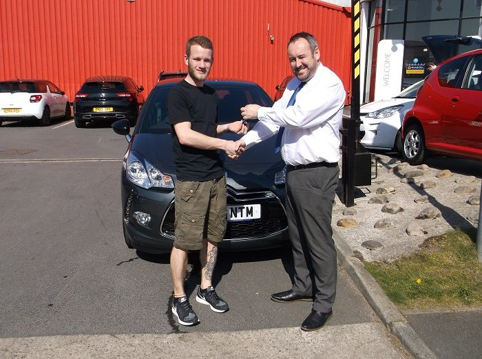 Mr Richmond collecting his DS3 from Lee Anslow at BCC Citroen Bury.