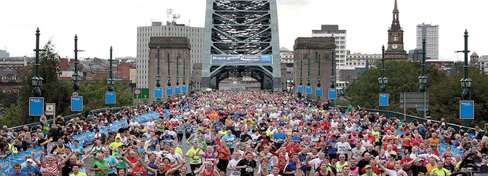 Dave Hall prepares for the Great North Run 2015