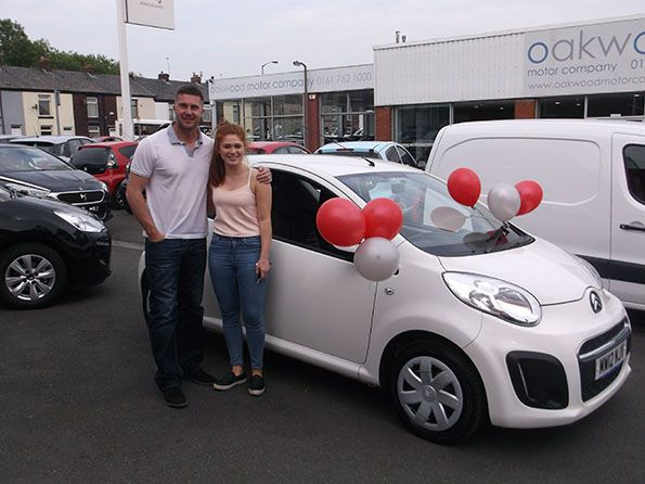 Miss Lucketti with her Dad collecting her 18th birthday surprise from Citroen Bury!