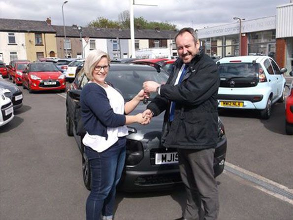 Miss Cohen collecting her brand new C4 Cactus from Lee Anslow at Citroen Bury - Happy motoring!