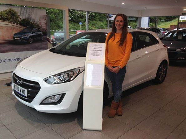 Miss Duggan collecting her new Hyundai i30 from Dave Partington - Happy motoring!