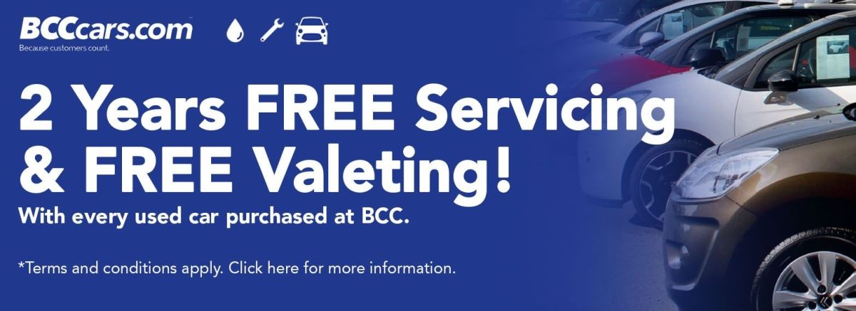 2 Years FREE Servicing & Valeting with EVERY Used Car!