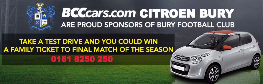 Win a Family Ticket to Bury FC Match!