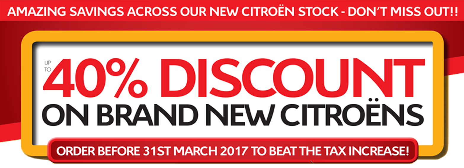 40% Discount on Brand New Citroen