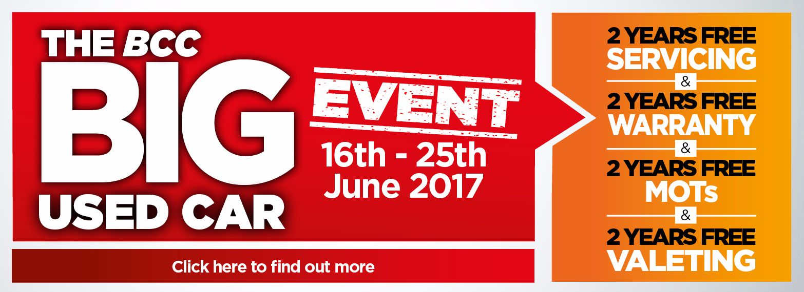 BIG Used Car Event 16th - 25th June 2017