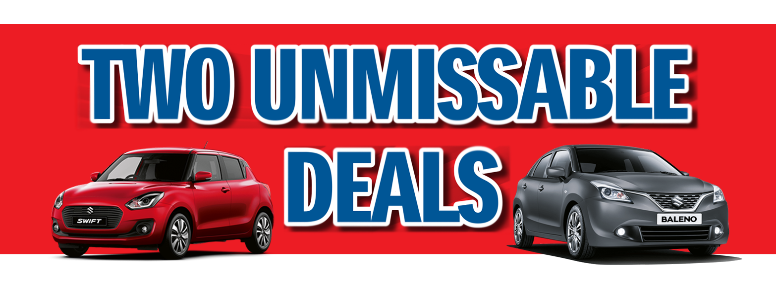 Two unmissable offers from BCC Suzuki