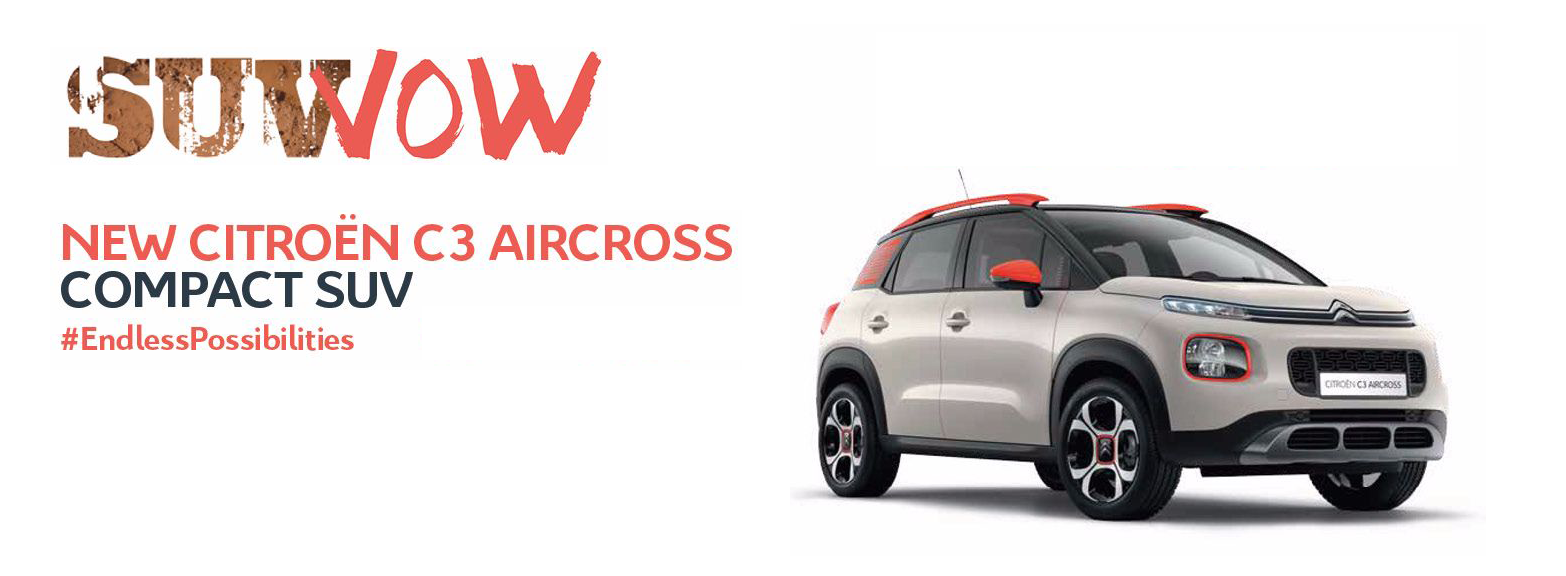 New Citroen C3 SUV Aircross Preview Launch Events