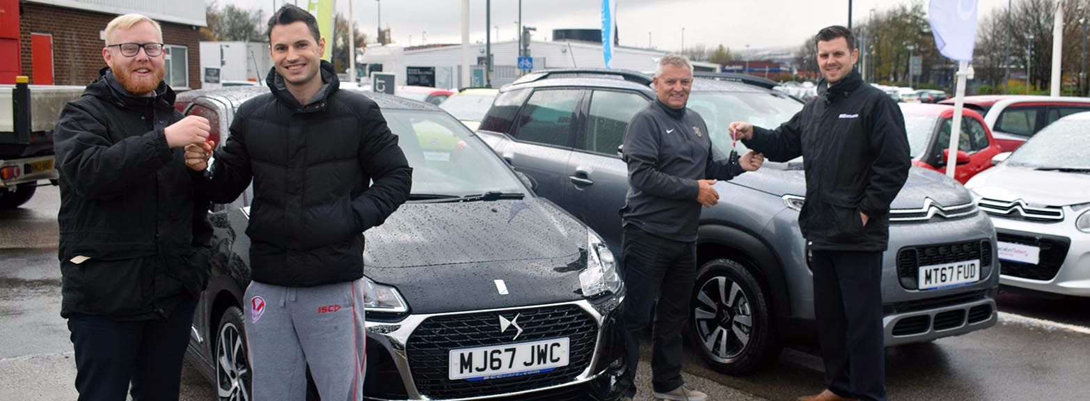 The Wall family collect from BCC Citroen Bolton
